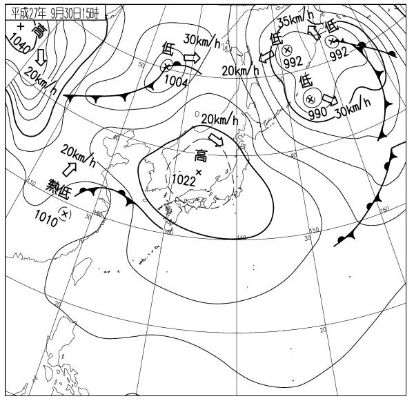 9月30日15時 出展:気象庁ホームページ