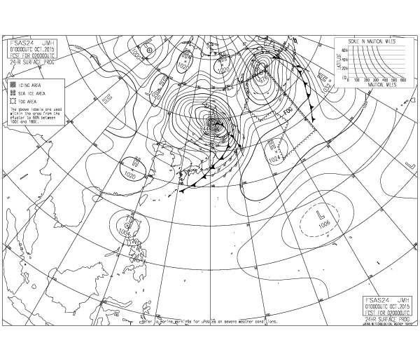 10月2日9時予想 気象庁ホームページ