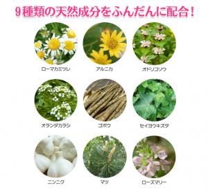 キュアラフィ シャンプー 効果 9種類の天然成分