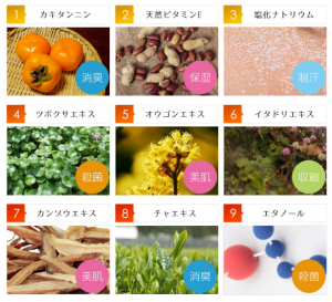 テサラン 効果 9種の食物成分