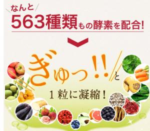 よくばりキレイの生酵素 効果 563種類の食物酵素