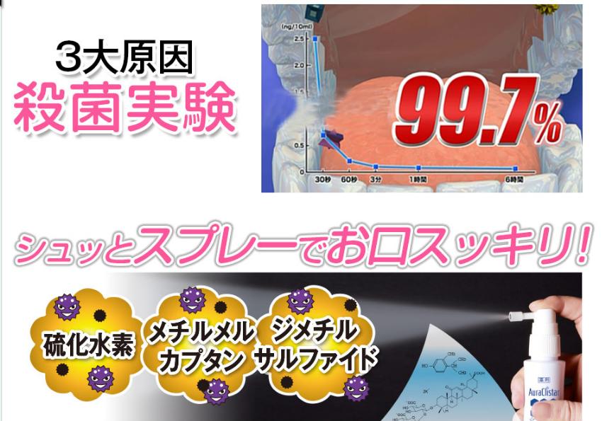 薬用オーラルクリスター・ゼロ 効果 殺菌