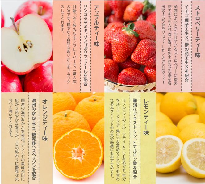 フルーツティーダイエット 効果 4種類の味