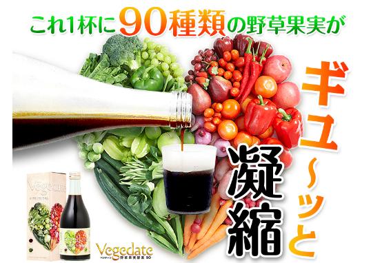ベジデーツ 効果 90種類の食物酵素